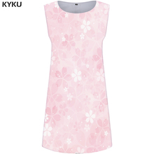 KYKU Flower Dress Women Colorful Mini Party Sundress Sexy Space 3d Print Purple Vintage Womens Clothing Ladies Dresses New