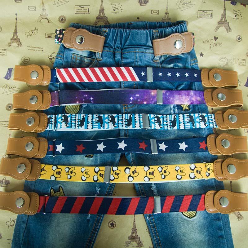 Ceinture enfants ceinture élastique sans boucle toile extensible ceinture pour garçons gesp vrije stretch riem ceinture enfant boucle gratuite ceinture 2019