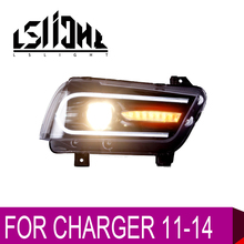 LSlight For CHARGER 2011 2012 2013 2014 LED Headlight Assembly Bulbs LAMP Light Stop Brake Turn Signal DRL LOW HIGH BEAM LENS for lifan 320 2007 2012 headlight assembly lamp assembly front headlamps with turn signal 1pcs