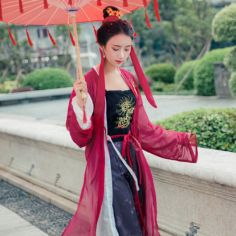 2020 Classical Dance Costumes Chinese Style Modern Sleeves Dance Costumes Umbrella Dance Costume Hanfu