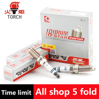 4pcs Lot China Original TORCH Double Iridium Spark Plugs LD7II For CHANGAN CS35 EADO XT