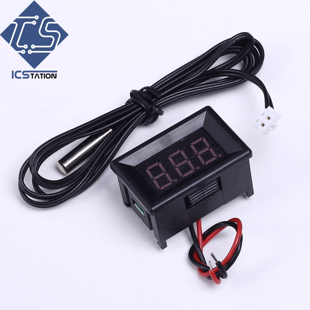 Green Digital Display Thermometer Thermostat Temperature Controller w/1m NTC Waterproof Probe Digital Display Sensor Module new industial instrument precision industrial digital thermometer temperature controller for welding machine best