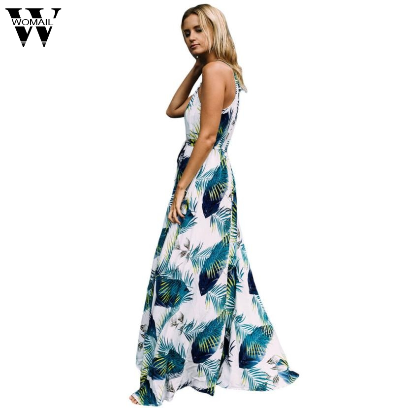 Dress 2017 Summer dresses Women Print Boho Long Evening Party Dress Beach Sundress fashion  Dresses                        AUG15