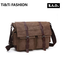 New Multi-pocket Fashion leisure Hip-Hop Street style originals Z.L.D Lovers Canvas bag Multi-zipper Student bags