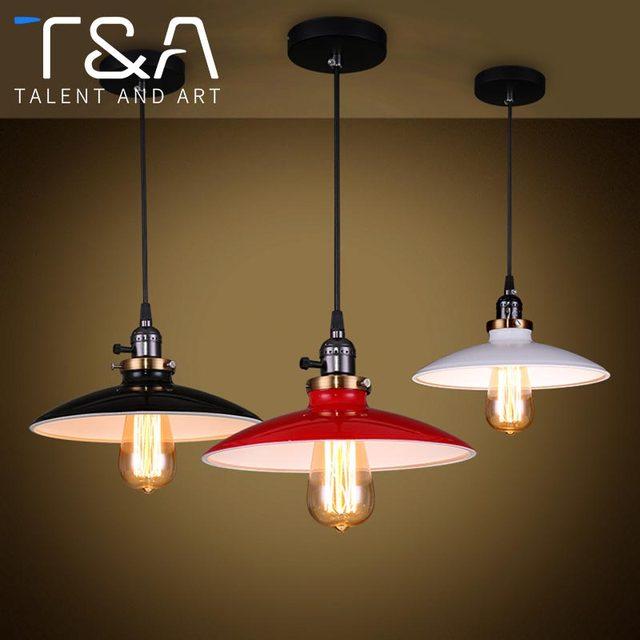 Us 2841 Retro Kutego żelaza Lampa Wisząca Dla Loft Restauracja Kuchnia Balkon Nabłyszczania Home Rocznika Przemysłowe Ufo światła Wisiorek