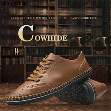 Men Casual Shoes Summer Brogue Retro Business Light Breathable British Style Oxford
