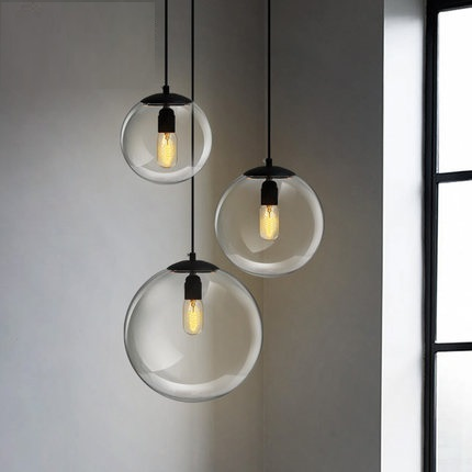 IWHD Glass Ball Modern Pendant Lights Fashion Kitchen Pendant Light Fixtures Living Room Home Lighting Suspension Luminaire iwhd aluminum led pendant light modern bedroom living room hanglamp home lighting fixtures nordic style suspension luminaire
