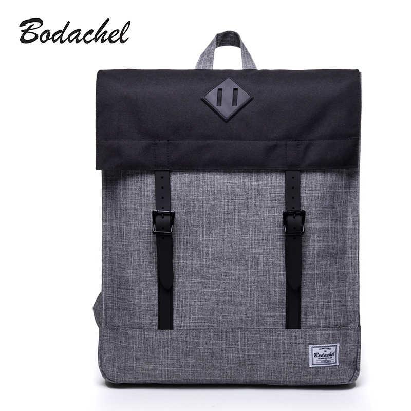 Bodachel Pria Ransel Pria Bagpack Tas Mahasiswa Tahan Air Ransel Schoolbags 15.6 Inch Komputer Laptop Ransel Rugzak