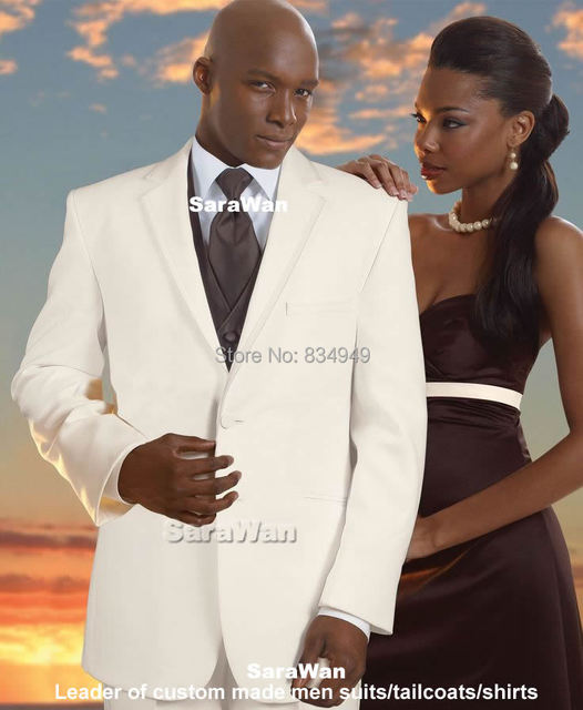 Ivory Wedding Suits For Men Custom Made, Bespoke Mens Ivory Suits ...