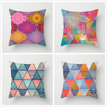 Fuwatacchi Mandala Pattern Cushion Cover Flower Geometric Pillow Cover for Home Sofa Chair Decorative Pillows 45*45cm цена и фото