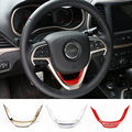 Hot Selling Red/Gold/Matt ABS Steering Wheel Trim Molding Interior Accessories for Jeep Grand Cherokee 2014 up