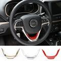 Venta caliente Rojo/Oro/Mate Volante ABS Moldura Interior Accesorios para Jeep Grand Cherokee 2014 up