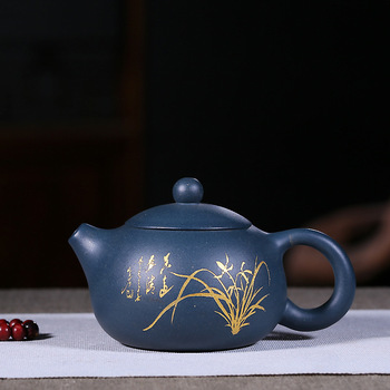 Yixing Purple Sand Pot Description Jinxi Shihu Pure Manual Purple Sand Pot Azure Mud Pot Household Kung Fu Tea Set