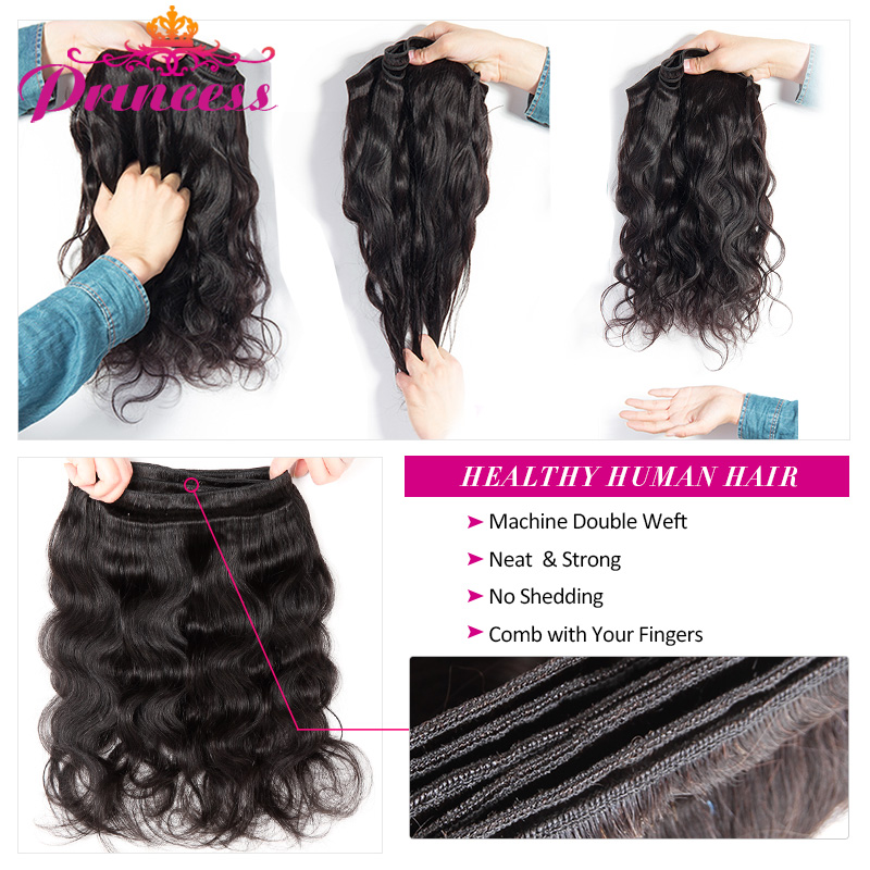 HTB1LFckeoo09KJjSZFDq6z9npXaE Beautiful Princess Hair 3 Bundles Peruvian Body Wave With Lace Closure Double Weft Remy Human Hair Bundles With Closure
