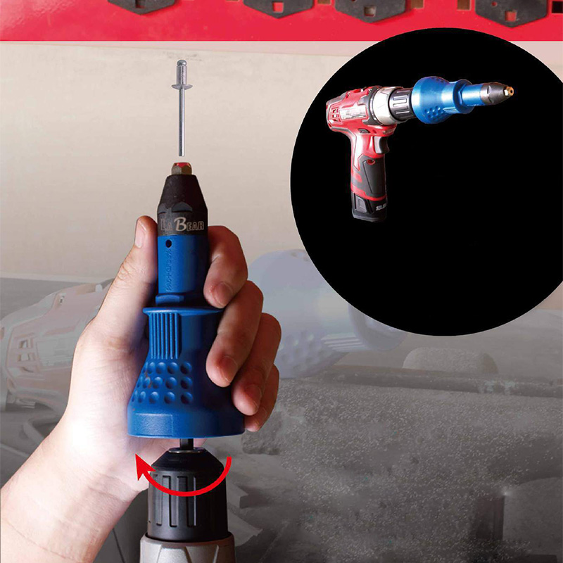 UK Hot Electric Rivet Nut Gun Cordless Riveting Drill Adaptor Insert Tool