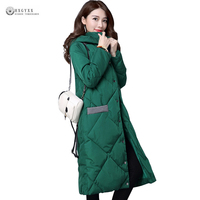 Hot Sale Straight Slim Women Winter Coat Long Wadded Outerwear Solid Hooded Thick Warm Down Parka