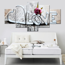 Printing Decoration Pictures Modern Home Framework Living Room Creative Letter Modular Love Art Poster Wall Painting Type