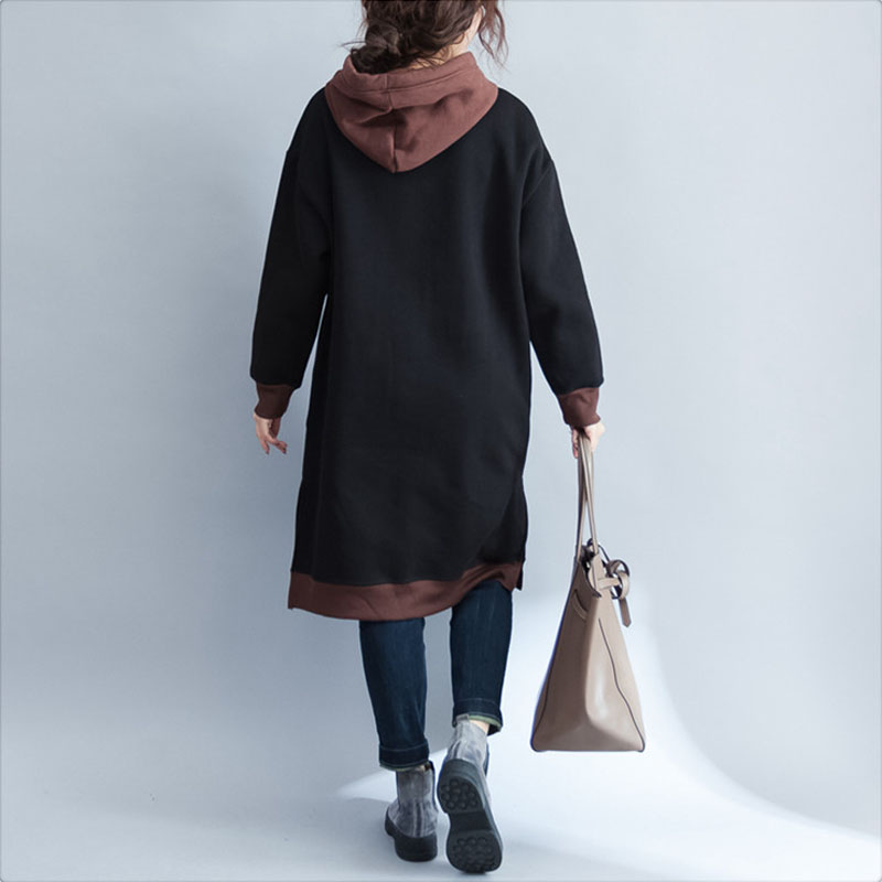Automne 4xl Bande Mujer Black Sweatshirt Robe Dessinée Sweatshirt Longues Capuche Kawaii À Surdimensionné Manches Sudaderas Imprimé Épaissir green Harajuku 2018 Femmes 74Fgq6wwa