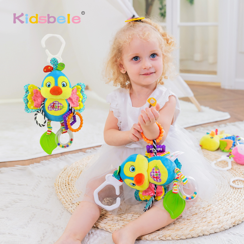 Baby Rattles Toys Handbell Rustle Sound Soft Doll Colorful Infant Baby Crib Toys Stroller Hanging Newborn Toys
