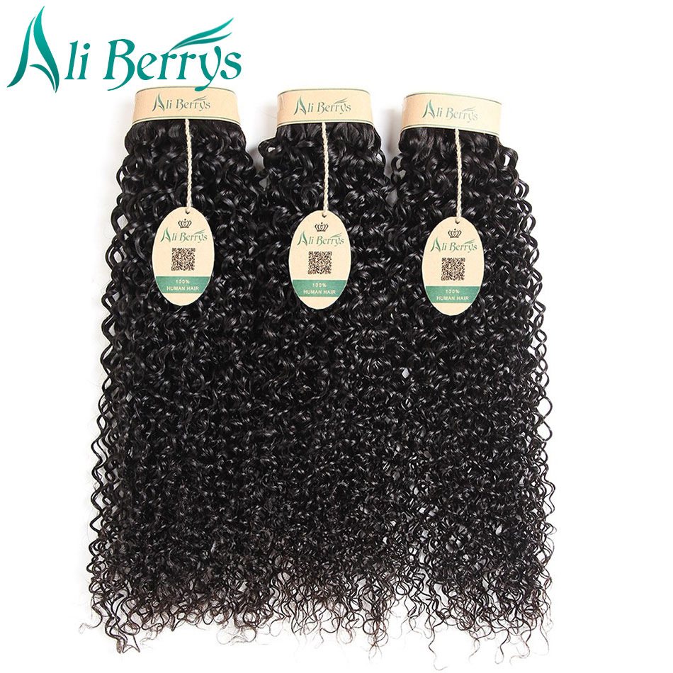 Ali Berrys Hair 1 Piece Malaysian Curly Hair 10-28 Inches Kinky Curly Weave Human Hair Bundles Unprocessed Remy Hair Weaving