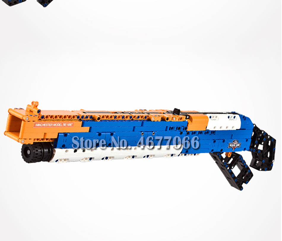 Legoed gun model building blocks p90 toy gun toy brick ak47 toy gun weapon legoed technic bricks lepin gun toys for boy 159