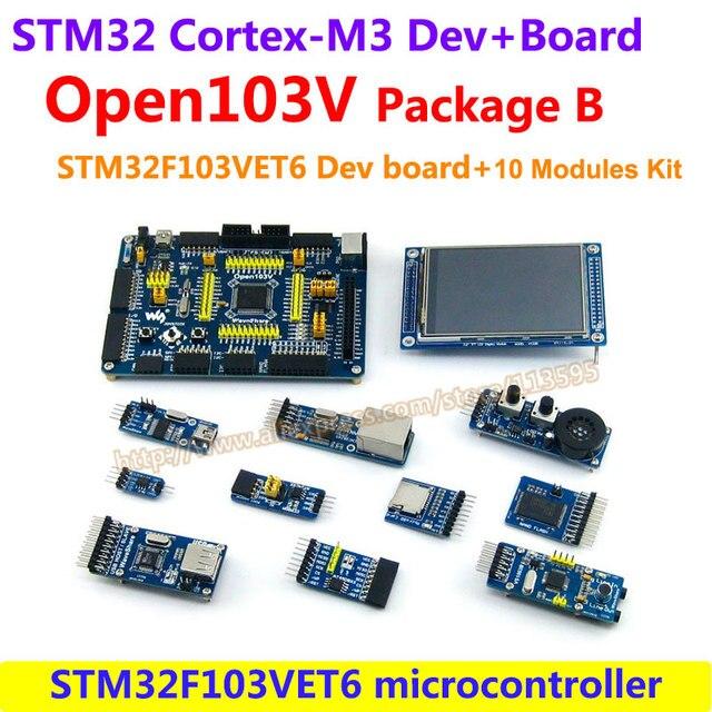 STM32 Борту STM32F103VET6 STM32F103 STM32 ARM Cortex-M3 Развития Борту (72 МГц) + 10 шт. Дополнительные Модули = Open103V пакет B