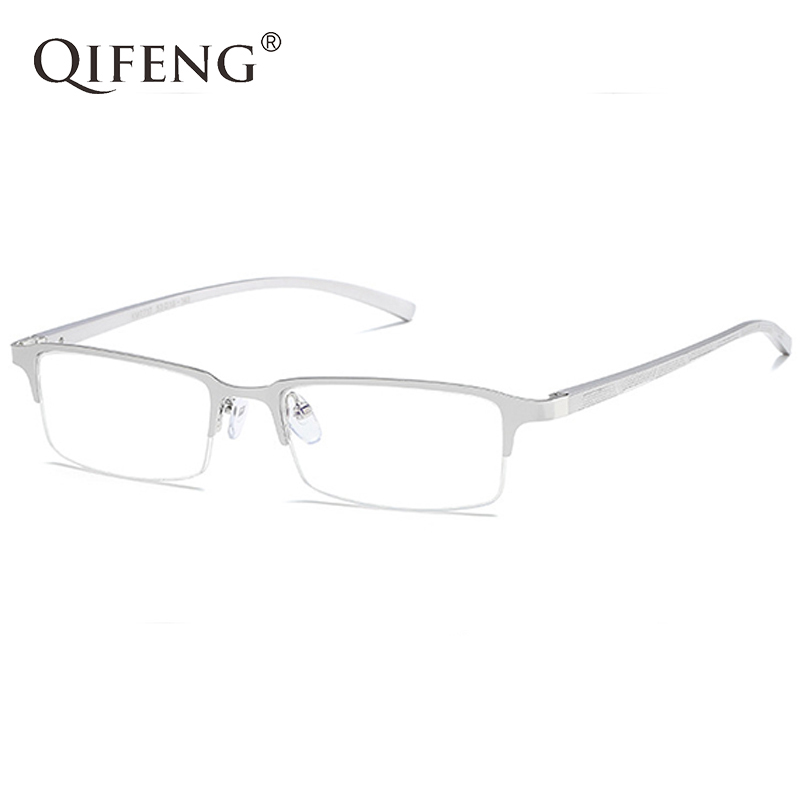 Spectacle Frame Eyeglasses Men Computer Optical Myopia Eye Glasses AL-MG For Male Transparent Clear Lens QF161