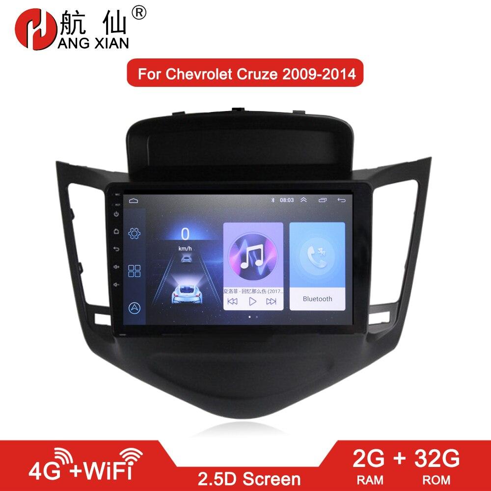 HANG XIAN 2 din autoradio pour Chevrolet Cruze 2009-2014 lecteur dvd de voiture gps navi accessoire de voiture d'autoradio 4G internet 2G 32G