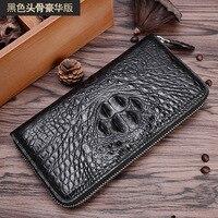 Новый дизайн клатч из натуральной крокодиловой кожи кошелек Элитный бренд для мужчин женщин аллигатора благородный