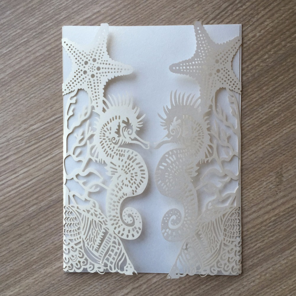 Beach Theme Card Stock: 30pcs/lot Glossy Paper Beach Theme Wedding Party