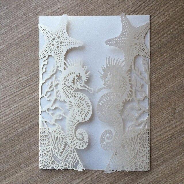 30pcslot glossy paper beach theme wedding party invitation card wedding cards bridal shower invitation