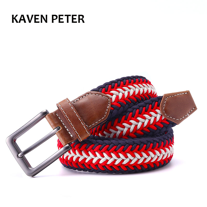 Mens Designer Tali Mens Kulit Jalinan elastik Stretch Cross Buckle Kasual Golf Belt Waistband Dari Belt Kilang Percuma Penghantaran