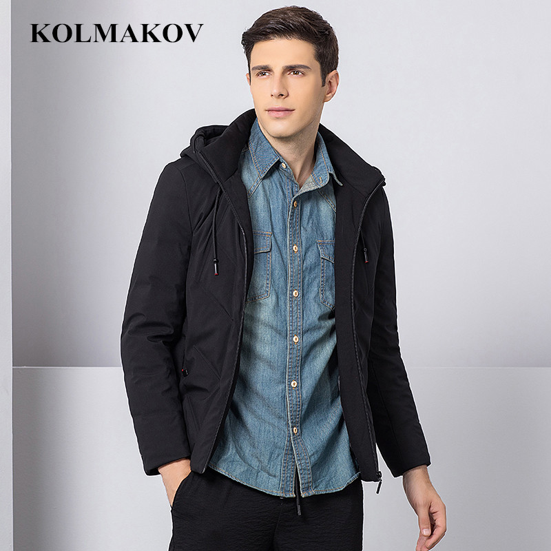 KOLMAKOV New Winter Down Coats men Hooded mens Parkas slim fit thicken Jackets homme casual good quality coats Plus Size S-XXXL