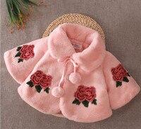 High Quality Baby Girls Cloak Children Winter Wear Flower Newborn Princess Thicking Coat Jacket Infant Outwear Kids Cape Outfits