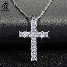 Роскошное ожерелье с кулоном в виде креста из 11 шт. ожерелье с кулоном из кубического циркония для женщин и женщин ON100