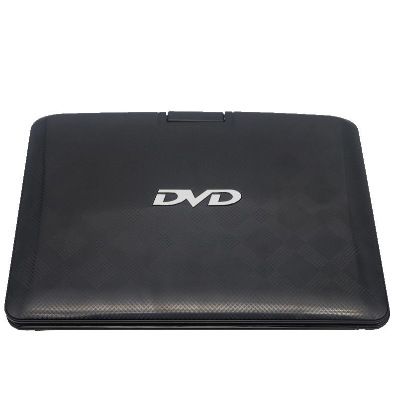 Lecteur DVD Portable LONPOO 10.1 pouces lecteur DVD pivotant DIVX USB Portable TV Portable lecteur DVD TV chargeur de voiture RCA avec batterie - 5