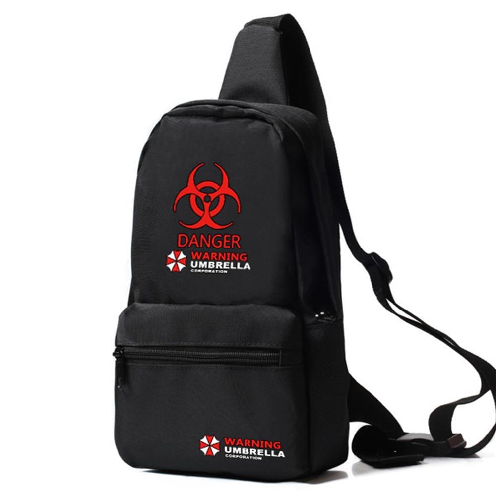 Zshop Oxford Crossbody Messenger Bag Resident Evil One Strap Sling Travel Chest Bag Umbrella Danger Daypack