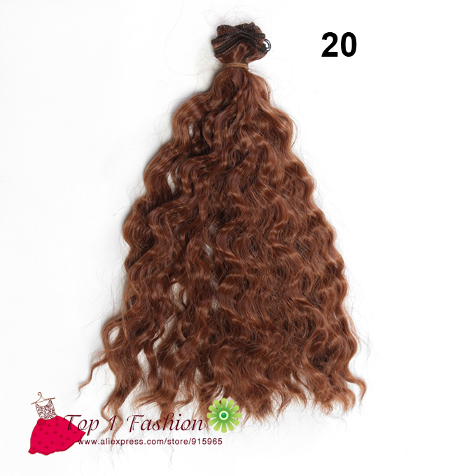 1 piece doll hair 25cm*100CM thick heat resistant small long curly brown black SD OD doll wigs hair for 1/3 1/4 1/6 BJD DIY