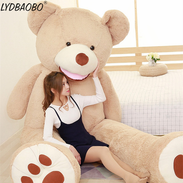 Free Shipping 1PC 130CM Giant Bear American Bear Teddy Bear Skin Factory The Lowest Price Best Soft Plush Gift For Birthday Girl