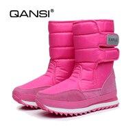 Qansi冬肥厚女性の靴雪のブーツ暖かい靴女