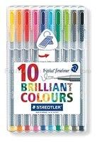 STAEDTLER 334 SB10 0 3mm 3 Color Gel Pens Set Fine Draw Point Art Marker Pen