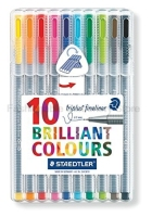 STAEDTLER 334 SB10 0 3mm 3 Color Gel Pens Set Fine Draw Point Art Marker Pen