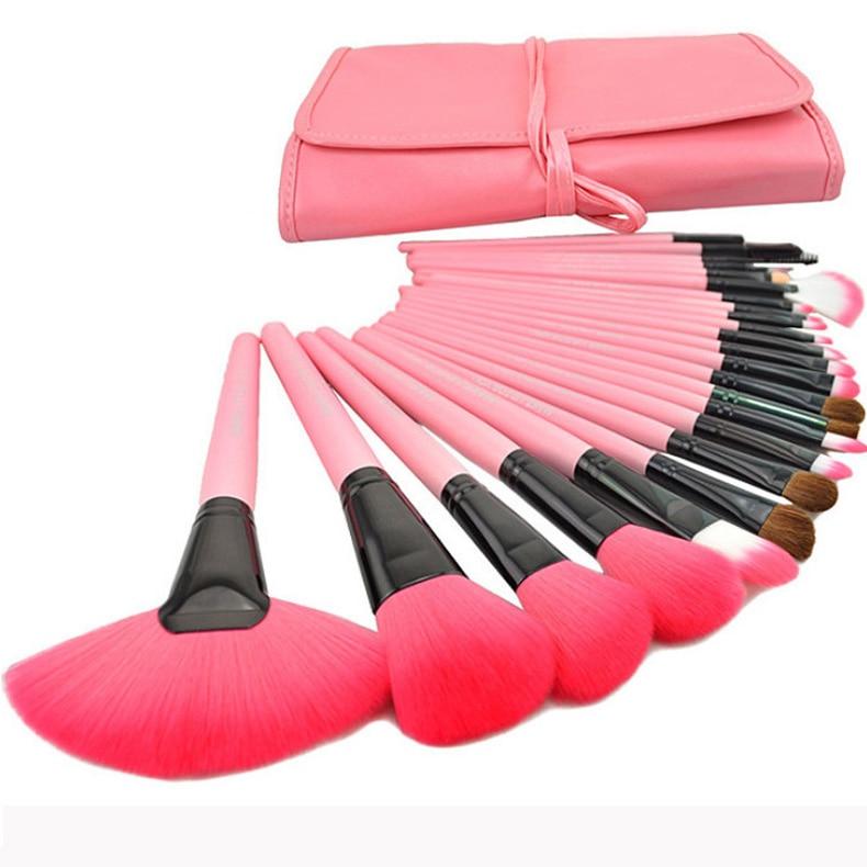 fashion curtilage 24 Pink Makeup Brush Makeup Brush Set Tool Network Burst Models with no Watermark no LOGO 3 Years Warranty