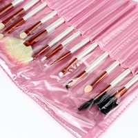 2017 New Professional 20 Pcs Makeup Brush Set Tools Make Up Toiletry Kit Wool Make Up