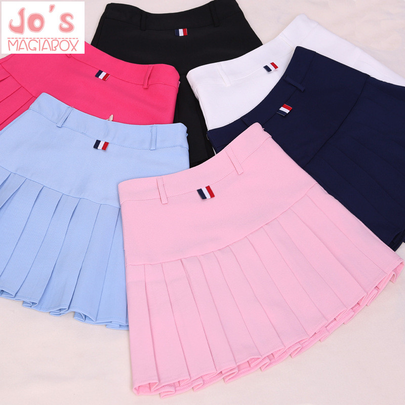 2018 taille haute plissée jupes Kawaii Harajuku Jupes femmes filles lolita a-ligne marin jupe Grande Taille Preppy uniforme scolaire