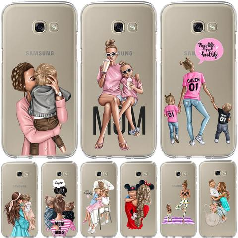 Baby Mom Girl Bumper Print Case For Samsung Galaxy A50 A30 A70 A40 A10 A20 A60 A70 A6 A8 Plus A7 A9 2018 Soft TPU Silicone Cover Pakistan