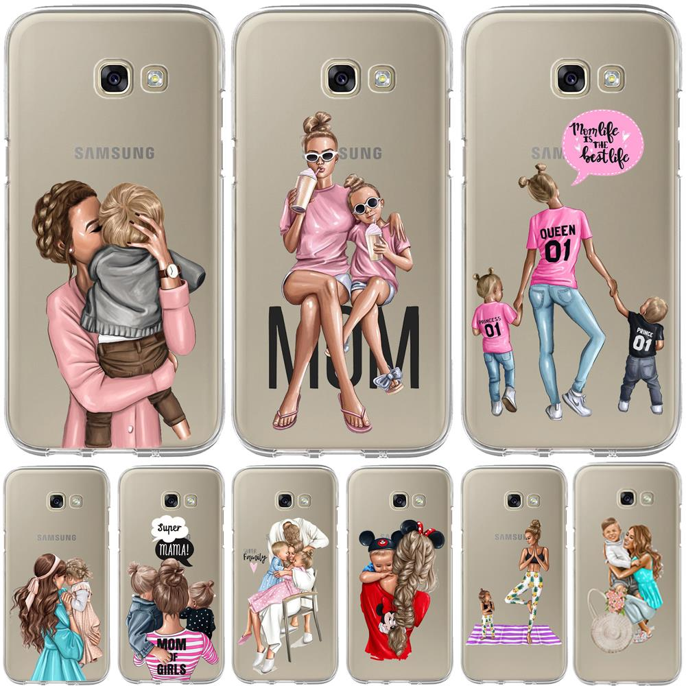 Baby Mom Girl Bumper Print Case For Samsung Galaxy A50 A30 A70 A40 A10 A20 A60 A70 A6 A8 Plus A7 A9 2018 Soft TPU Silicone Cover image