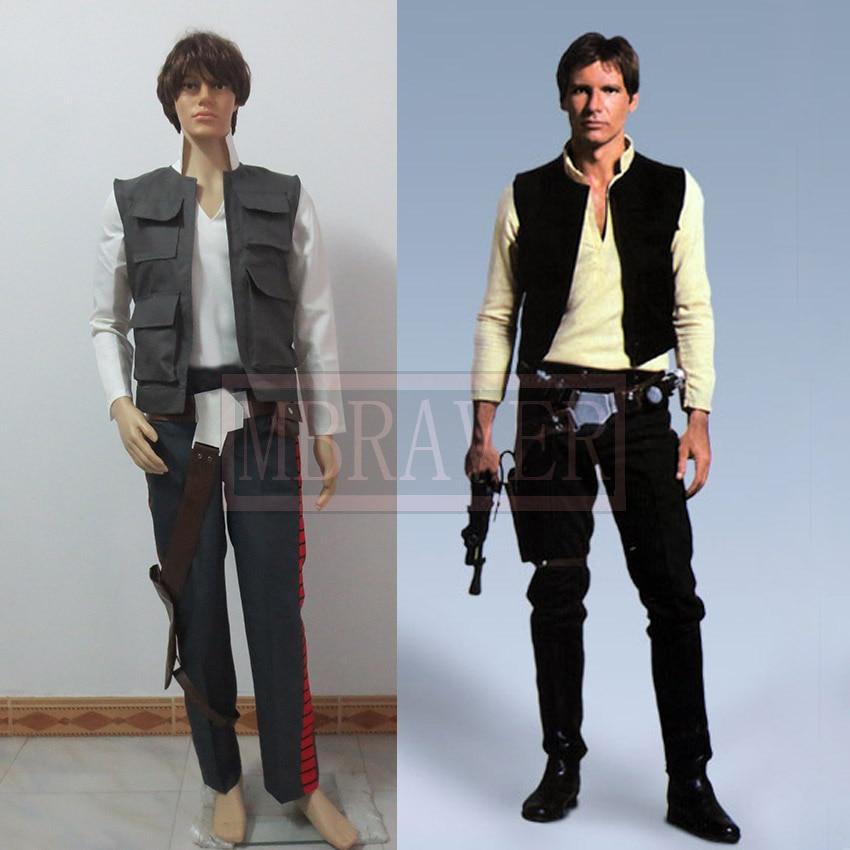 Star Wars 7 The Force Awaken the Rebel Alliance General Han Solo Cosplay Costume Captain Costume Halloween Costume
