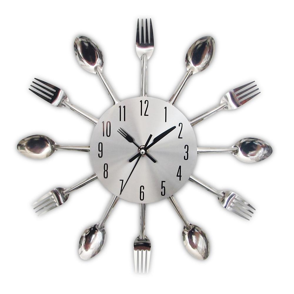 Neue, Moderne Küche Wanduhr Splitter Besteck Uhren Löffel Gabel ...
