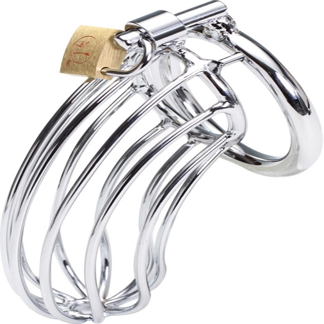 Adult Gift Stainless Steel Male Cock Cage Chastity Metal Sex Toys For Men 3 kinds of different Ring Size Choice